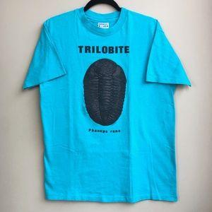 VTG Trilobite Fossil T Shirt Sz L Arthropod 70s/80